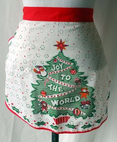 1970s Joy to the World Apron