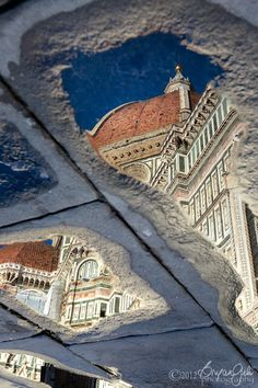 After the Rain - Reflection of The Duomo, Florence