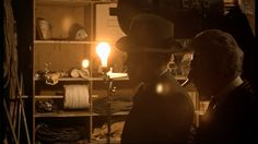 'The Godfather' (1972) Dir: Francis Ford Coppola | DoP: Gordon Willis | Starring: Marlon Brando, Al Pacino, James Caan, Diane Keaton, Robert Duvall and John Cazale - Tom hagen visiting Johnny Fontane