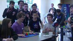 5.25 Official Rubik's Cube World Record - Collin Burnswaw! pero q  chico =)