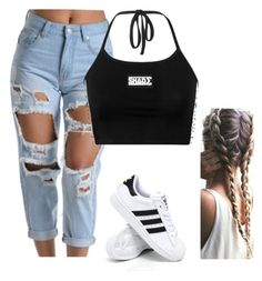 """""""Untitled #105"""" by outfits2dope ❤ liked on Polyvore featuring Amuse Society and adidas"""