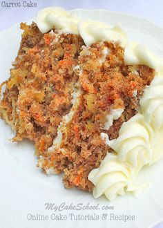 The Most Amazing Scratch Carrot Cake Recipe!! MyCakeSchool.com. Online Cake Tutorials & Recipes!!  #carrotcake #scratchcakes #cake #recipes