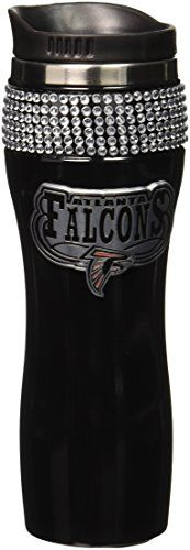 NFL Atlanta Falcons 16Ounce Black Stainless Steel Bling Tumbler -- More info could be found at the image url.