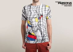 DRUNK MONDRIAN T-Shirt - Parody T-Shirt