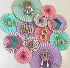 47 Super Ideas Baby Shower Ides For Girs Boho Birthday Parties 3rd Birthday Party For Girls, Bday Girl, Birthday Ideas, Birthday Bash, Birthday Decorations, Birthday Backdrop, First Birthdays, Paper Fans, Photo Shoot
