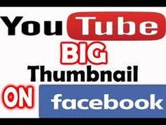 Fb Sidee Loo dhigaa Video Muqaalkiisu Weyn yahay: Post Big Youtube Thumb...