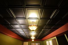 CeilingConnex Finished Basement Ceiling creates a great look for your home theater ceiling.