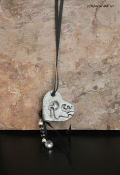 """Handcrafted """"Heart and Beads"""" Black and Silver Necklace by #AmrcnWldFlwrDesigns on Etsy, $22.00"""