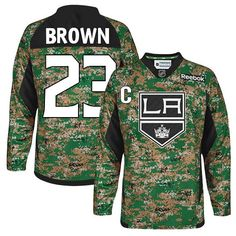 Los Angeles Kings  23 Dustin Brown Camo Practice Veterans Day Jersey 8d6ae01d9