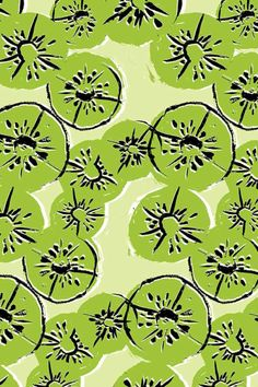 kool as a kiwi Food Patterns, Patterns In Nature, Pretty Patterns, Textiles, Textile Prints, Textile Patterns, Abstract Pattern, Pattern Art, Black Pattern