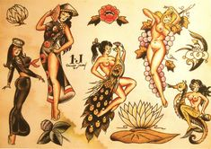 tattoo flash by Sailor Jerry