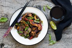 Pork and Braised Eggplant Stir Fry