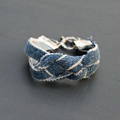 denim bracelet diy tutorial