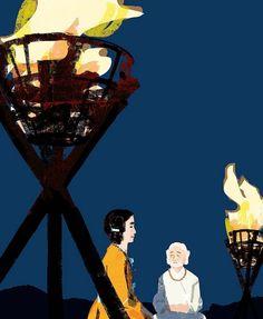 #yamatotakeru #japan #tokyo #god #illustration #illustrator #yamato #fire #night #sky #イラスト #イラストレーション #ヤマトタケル