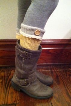 cute boot socks--want those boots too!