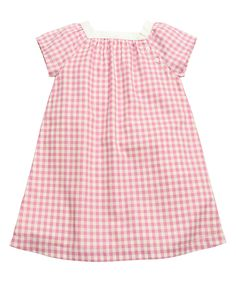 This Carmine Pink Checkerboard Aimee Dress - Kids & Tween by Olive Juice is perfect! #zulilyfinds