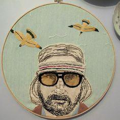 Richie Tenennbaum embroidery.