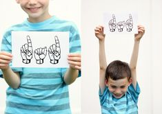 Sign Language Father's Day Cards - FREE PRINTABLES! - delia creates