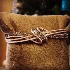 Wrap it up…in chocolate!  Chocolate Diamonds® Gladiator Loops™ Bangle  #LeVian #OneDayEvent #ChocolateDiamonds