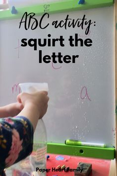 Get this fun letter learning activity and many more. Help your toddler learn the ABCs with fun, playful ABC activities for toddlers and preschoolers. This guide full of alphabet games will help you to teach your child WITHOUT worksheets.