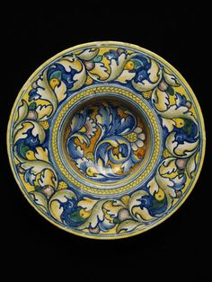 Plate      Place of origin:      Gubbio, Italy (probably, made)     Date:      ca. 1525 (made)     Artist/Maker:      unknown (production)     Materials and Techniques:      Tin-glazed earthenware     Museum number:      1676-1855     Gallery location:      Ceramics Study Galleries, Asia & Europe, room 137, case 39, shelf 3 V&A