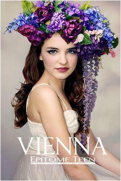 Stunning girl. Stunning headdress.