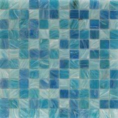 Shop for Aquatic Sky Blue 1x1 Squares Glass Tile at TileBar.com