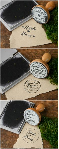 Custom wooden wedding stamps - Find your perfect design ! #wedding #weddingideas #wood #stamp #weddingstamp #rustic #country