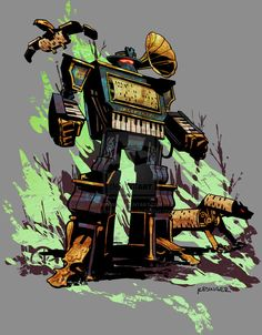 Steampunk Transformers Soundwave by Brian Kesinger