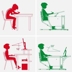 Adjustments in ergonomics Art Studio Design, Design Lab, Kids Furniture, Furniture Design, School Furniture, Classroom Seating Arrangements, Patio Edging, Drawing Desk, Small Home Offices