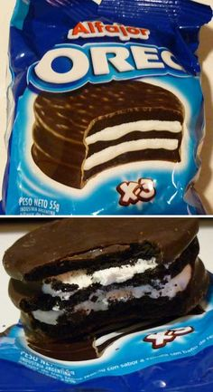 Biscuits Oreo à la Alfajor - Crème Dreams: 12 Odd - My pictures Weird Oreo Flavors, Cookie Flavors, Sonic Cake, Biscuit Oreo, Delicious Desserts, Yummy Food, Oreo Dessert, Weird Food, Best Food Ever