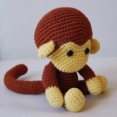 Amigurumi Crochet Monkey Pattern - Johnny the Monkey - Softie - Plush by pepika on Etsy https://www.etsy.com/listing/105941111/amigurumi-crochet-monkey-pattern-johnny