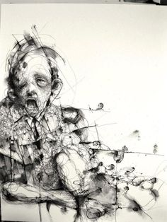 PF00 [ traditional works on paper ] by Eric Lacombe, via Behance