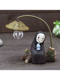 Spirited Away - Faceless No Face Table Light Night Lamp Totoro, Polymer Clay Crafts, Diy Clay, Sculpture Art, Sculptures, Anime Crafts, Ghibli Movies, Spirited Away, Mini Things