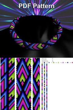 Bead crochet pattern seed bead bracelet tutorial pdf beading master Class jewelry make necklace Crochet Rope PDF tutorial geometric zigzag Crochet Bracelet Pattern, Crochet Beaded Bracelets, Beaded Necklace Patterns, Bead Crochet Patterns, Beaded Bracelets Tutorial, Beading Patterns Free, Bead Crochet Rope, Weaving Patterns, Art Patterns