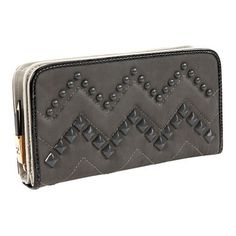 Nicole Lee Misha Studded Chevron Wallet (Black) nicole. $19.46