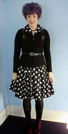 Coffin Kitsch: Polka Dots and Spiders #80s #goth #blogger #outfit