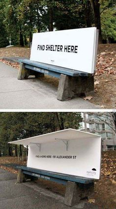 Great invention for Homeless people. Shelter from the storm.
