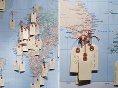 DIY Travel Wishing Map