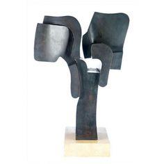 "FAUSTINO AIZKORBE. ""ARTICULACIÓN"" Bronce en base de mármolMedidas: 65 x 25 x 40 cm."