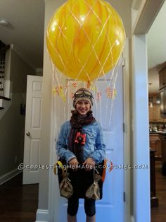 Cool Homemade Hot Air Balloon Costume: Ready for Liftoff... This website is the Pinterest of costumes