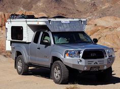 Need a cabover camper for the GMC...and a truck tent for the Tacoma & we'll be set!