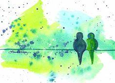 Decorating Ideas: Original Watercolor Paintings ~ Laura Trevey - Laura Trevey - Bright Bold and Beautiful