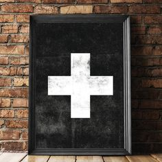 Swiss Cross black Scandinavian art http://www.amazon.com/dp/B016N2ADZU   inspirational quote word art print motivational poster black white motivationmonday minimalist shabby chic fashion inspo typographic wall decor