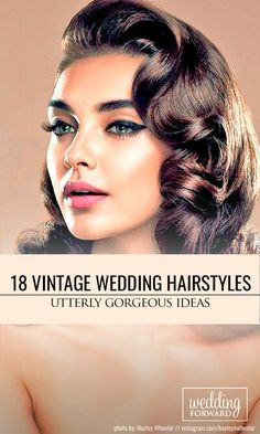 18 Utterly Gorgeous Vintage Wedding Hairstyles ❤ From 20s Gatsby style and sensational 60s chignons to retro 50s rolls, vintage wedding hairstyles come in all shapes and sizes and they are perfect. See more: http://www.weddingforward.com/vintage-wedding-hairstyles/ #weddings #hairstyles