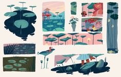 Drew a bunch of lily pads too…