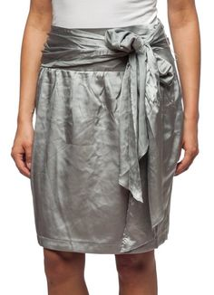 Amazon.com: Women's Silky Skirt with Tie by Hanna & Gracie: Clothing