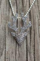 Silberpfeil Anhänger Hirsch klein Black Diamond