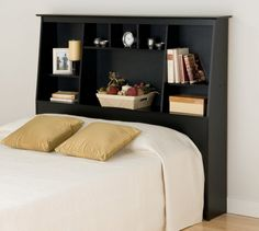 headboard with shelves - Bing Images