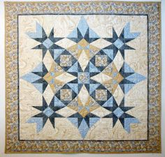 Wendy Mathson class sample Storm at Sea made with Quilters' TRIMplates